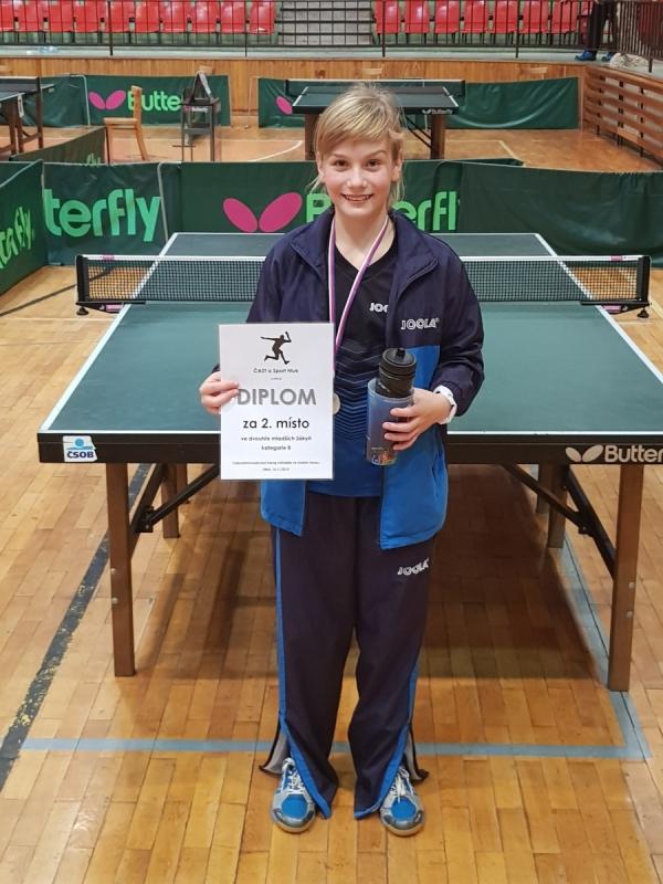 Adélka Mikešová na 2.místě na turnaji B mladších žákyň
