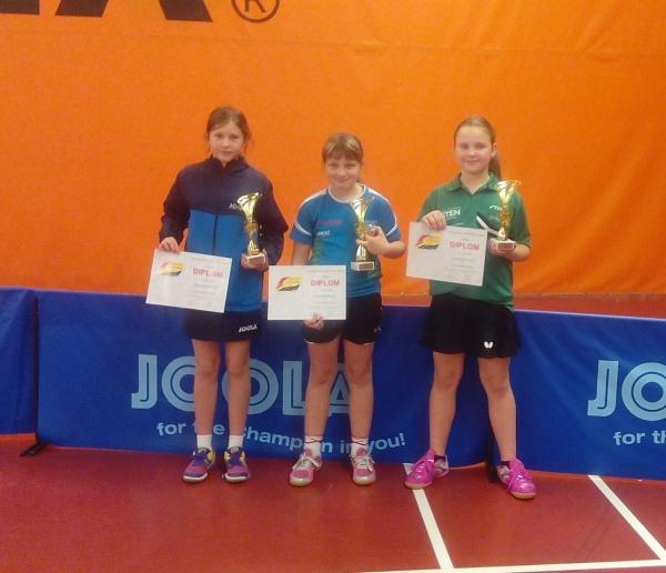 Eliška Slavíčková na 2.místě ve dvouhře nejmladších žákyň