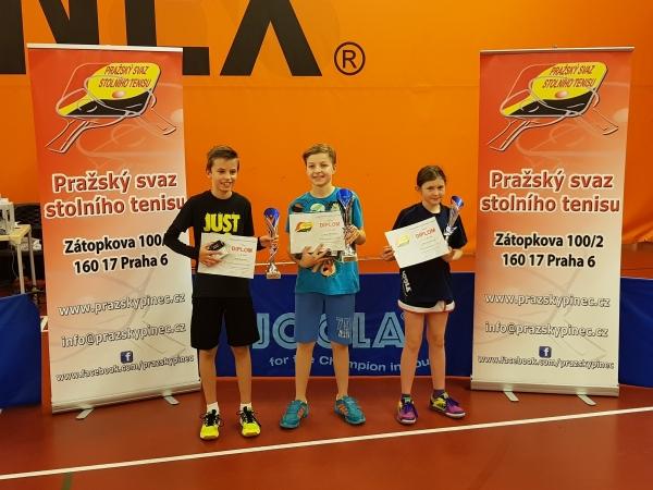 Eliška Slavíčková na 3.místě v turnaji B nejmladšího žactva