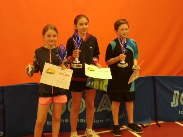 Evička Havlíčková na 3.místě v turnaji B nejmladšího žactva