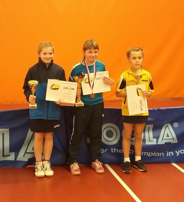 Hanka Kodetová na 2.místě ve dvouhře nejmladších žákyň