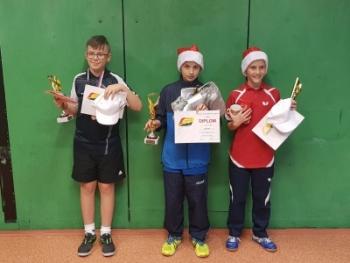 Lukáš Rek na 1.místě ve dvouhře mladších žáků
