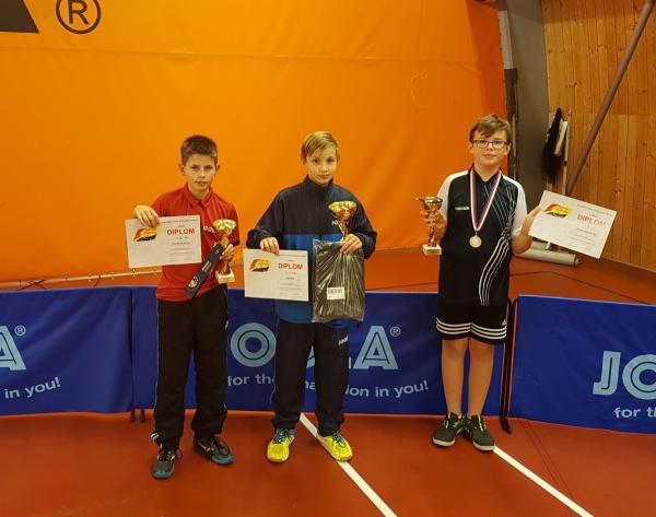 Lukáš Rek na 1.místě ve dvouhře mladšího žactva