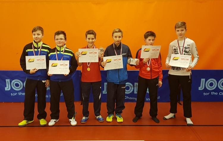 Medailisté ve čtyřhře mladšího žactva